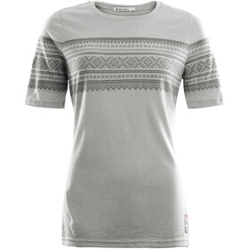 Aclima DesignWool Marius Kortærmet T-shirt Damer, paloma grey/castle rock